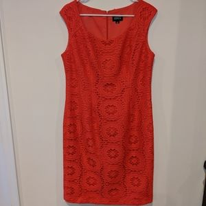 Adrianna Papell Coral Lace Sheath Dress